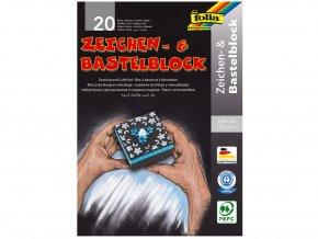 Folia 197 - Blok na kreslení - černý - 130 g/m2