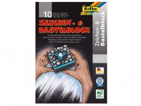 Folia 198 - Blok na kreslení - černý - 130 g/m2