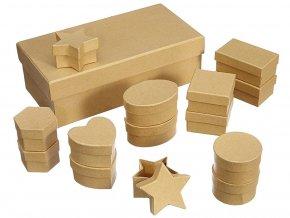 Folia 31510 - Dárkové krabičky přírodní - 15 ks