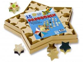 Folia 32510 - Dárkové krabičky hvězdy - 25 ks přírodní