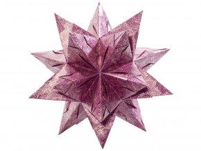 Folia 400/1515 Bascetta hvězda - Zimní ornamenty, ø 20 cm
