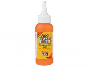 Amos 1503 Slupovací barva na sklo - oranžová