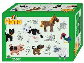 Hama 3509 - zažehlovací korálky MIDI - Malý svět - Farma