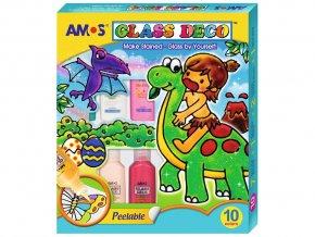Amos 6595 Souprava barevy na sklo 10 ks + šablony