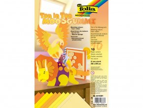 Folia 231091 - Penovka moosgummi - tón v tónu - žlutá