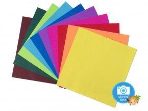 Origami papír 15 x 15 cm, 500 archů v 10-ti barvách