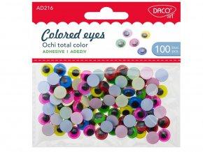 DACOart 216 - Oči barevné vypouklé, 100 ks
