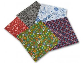 Origami papír Ornamental 80 g/m2 - 15 x 15 cm, 50 archů