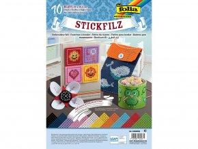 Folia 530409 - Perforovaný dekorační filc - mix barev