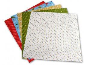 Origami papír Vánoce 80 g/m2 - 15 x 15 cm, 50 archů