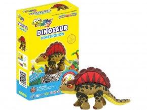 C2-1 Jumping clay modelína - dinosaurus Dimetrodon