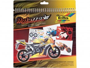 Folia 41203 - Kniha se šablonami - Motocykl - velká