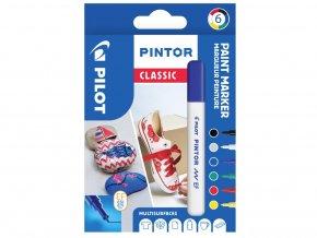 Popisovače Pintor Classic - Sada 6 ks, hrot EF