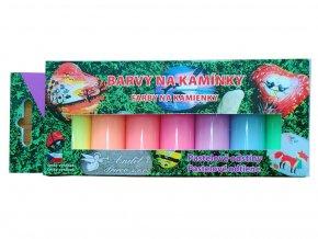 Anděl 6129 - Barvy na kamínky pastelové matné 7x15 g