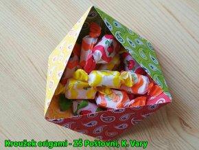 Origami papír Basics 80 g/m2 - 10 x 10 cm, 50 archů - červený