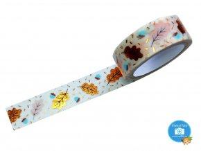 Folia 26119 - Washi Tape - dekorační lepicí páska hotfoil - podzim