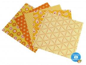 Origami papír Basics 80 g/m2 - 10 x 10 cm, 50 archů - žlutý