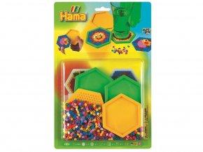 HAMA 4157 - Korálkový set podšálky šestiúhelníkové - zažehlovací korálky MIDI