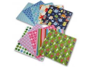 Origami papíry Dětské 80 g/m2 - 10 x 10 cm - 50 archů