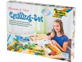 Folia 12829 - Quilling sada Zvířata a květiny - 167 dílů