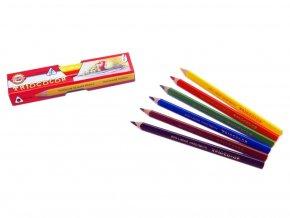 Kohinoor 3151/6 Trojhranné silné pastelky TRIOCOLOR - 6 barev
