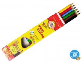 Kohinoor 3131/6 Trojhranné tenké pastelky TRIOCOLOR - 6 barev