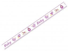 Ursus 5905/87 - Washi Tape - dekorační lepicí páska - MIMINKO - RŮŽOVÁ