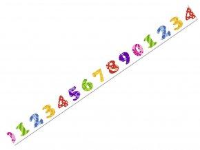Ursus 5905/82 - Washi Tape - dekorační lepicí páska - číslice