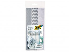 Folia 90601 - Hedvábný papír, 50x70 cm, mix stříbrné