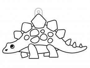 závěsná šablona pro barvy na sklo - stegosaurus
