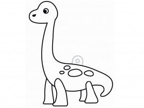 závěsná šablona pro barvy na sklo - brachiosaurus