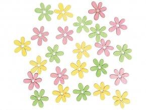 Anděl 4145 - Květy dřevěné 2 cm, 24 ks