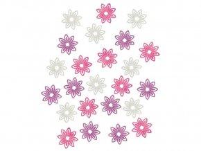 Anděl 3922 - Květy dřevěné 2 cm, 24 ks