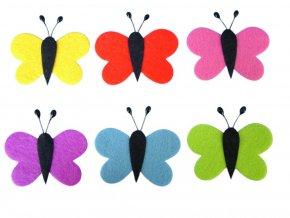 BD TOVA 40000106 - Motýl z filcu, 6 ks