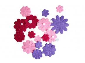 BD TOVA 99139 - Mix výseků růžovo-fialový, 27 ks