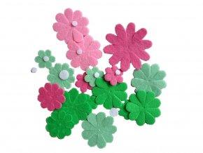 BD TOVA 99139 - Mix výseků růžovo-zelený, 27 ks