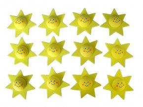 BD TOVA 40002112 - výseky z pěnovky Hvězdička s obličejem, 12 ks