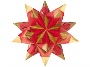 Folia 326/2020 Bascetta hvězda - červeno-zlatá, ø 30 cm
