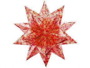 Folia 409/2020 Bascetta hvězda - červeno-zlatá, ø 30 cm