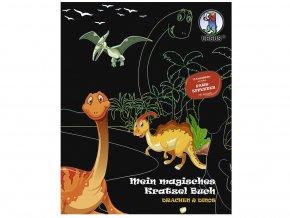 Ursus 2453/02 Kouzelná škrabací knížka Draci a dinosauři