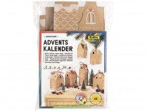 Folia 9385 - Adventni kalendar Papirové domečky, 49 dílů