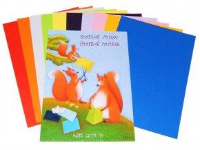 Papírny Brno - Barevné papíry A3, 10 listů, 80 g/m2