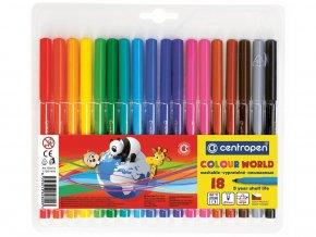 Centropen 7550 - Barevné popisovače Colour world 18 barev