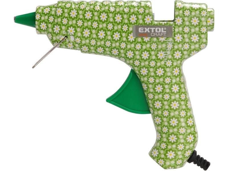 Tavná lepící pistole květinová, 40 W, EXTOL CRAFT, Ø 11mm
