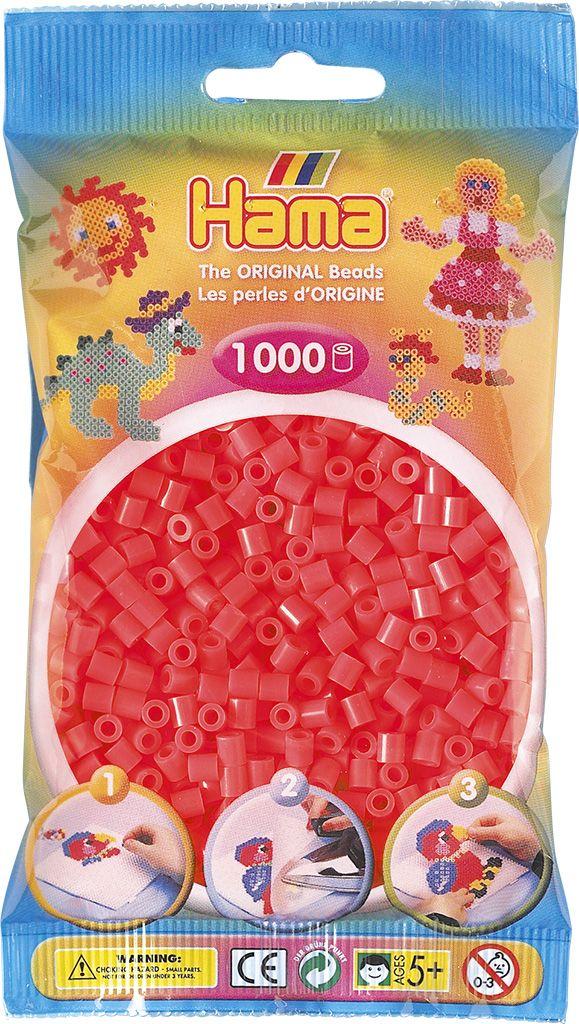 HAMA MIDI zažehlovací korálky neonové růžové - 1000 ks