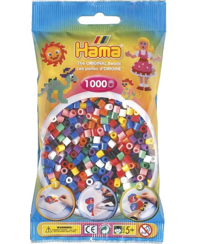 HAMA MIDI zažehlovací korálky mix barev - 1000 ks