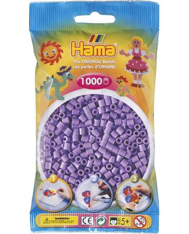 HAMA MIDI zažehlovací korálky pastelově fialové - 1000 ks
