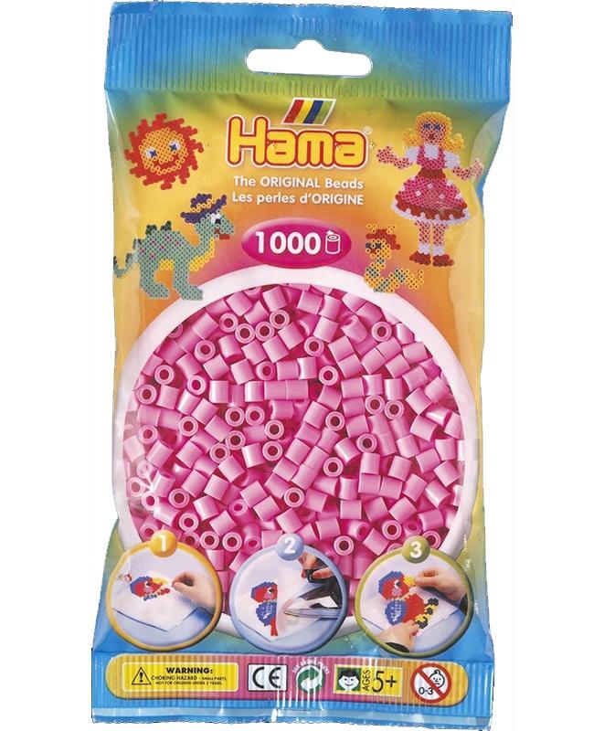 HAMA MIDI zažehlovací korálky pastelově růžové - 1000 ks