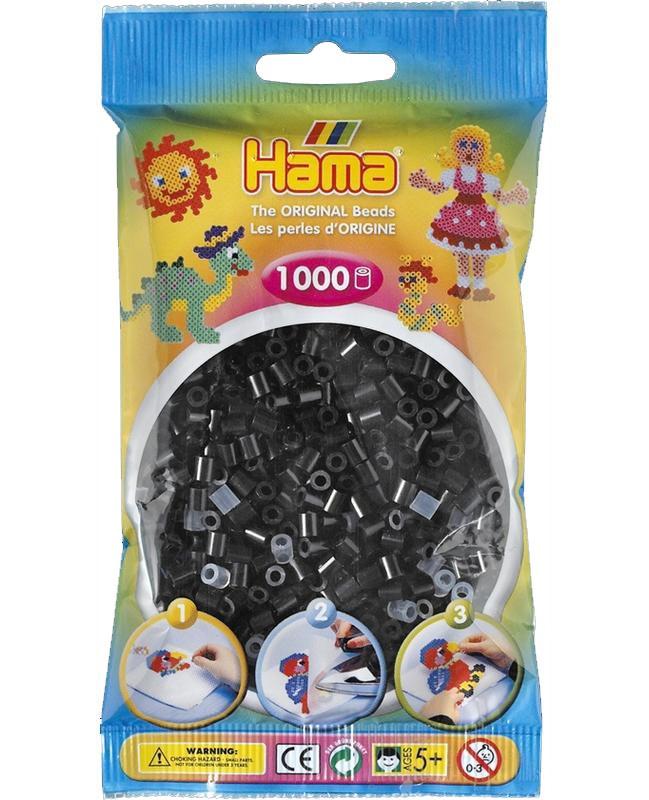 HAMA MIDI zažehlovací korálky černé - 1000 ks