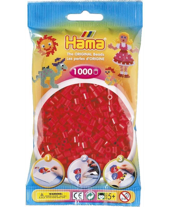 HAMA MIDI zažehlovací korálky červené - 1000 ks